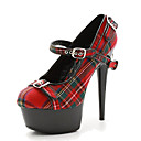 cheap Women's Heels-Women's Shoes Patent Leather / Fabric Summer / Fall Light Up Shoes / Club Shoes Heels Stiletto Heel / Platform Buckle Black / Red / Black