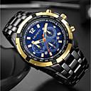 abordables Relojes de Hombre-Hombre Reloj de Pulsera Chino Cool / Esfera Grande Acero Inoxidable Banda Lujo / Moda Negro / Plata / Mitsubishi LR626