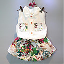 tanie Zestawy ubrań dla dziewczynek-Brzdąc Dla dziewczynek Na co dzień Nadruk Bez rękawów Bawełna Komplet odzieży