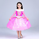 cheap Kids Halloween Costumes-Princess / Fairytale / Aurora Dress Christmas / Masquerade Festival / Holiday Halloween Costumes Pink Color Block Ball Gown Slip / Mesh Adorable