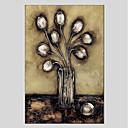 halpa Kukkamaalaukset-Hang-Painted öljymaalaus Maalattu - Kukkakuvio / Kasvitiede Moderni Kangas
