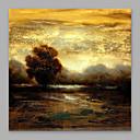 cheap Landscape Paintings-Oil Painting Hand Painted - Landscape Modern Canvas