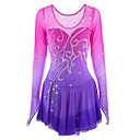 cheap Ice Skating Dresses , Pants & Jackets-Figure Skating Dress Women's / Girls' Ice Skating Dress Pink / Purple Spandex Rhinestone High Elasticity Performance Skating Wear Handmade