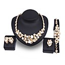 cheap Jewelry Sets-Women's Pearl Jewelry Set - Imitation Pearl, Gold Plated Leaf, Flower Statement, Oversized Include Gold For Wedding Party / Earrings