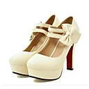 abordables Carteras-Mujer Zapatos PU Primavera / Otoño Confort / Innovador Tacones Tacón alto Dedo redondo Pajarita Beige / Morado / Rosa / Boda