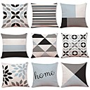 cheap Pendant Lights-9 pcs Linen Pillow Cover, Geometric Art Deco Plaid/Check