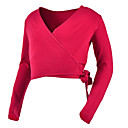 cheap Ballet Dance Wear-Ballet Tops Women's Performance Cotton Bandage Long Sleeve Natural Top