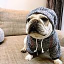 baratos Roupas para Cães-Cachorro Camisola com Capuz Roupas para Cães Formais Café Azul Algodão Ocasiões Especiais Para animais de estimação Homens Mulheres Casual