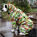 olcso Kutyaruházat-Kutya Esőkabát Kutyaruházat Fonálfestett Terepszínű Egyéb Anyag Jelmez Háziállatok számára Vízálló