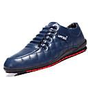 cheap Men's Sneakers-Men's Light Soles Faux Leather Fall / Winter Comfort Sneakers Black / Dark Blue / Coffee