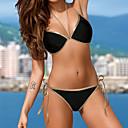 tanie Naklejki ścienne-Damskie Halter Bikini - Jendolity kolor Dół typu Cheeky