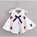 cheap Girls' Dresses-Toddler Girls' Casual / Daily Solid Colored Sleeveless Cotton Dress Red
