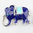 cheap Religious Jewelry-Brooches - Imitation Diamond Elephant, Animal Brooch Silver For Daily