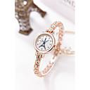 preiswerte Quartz-Damen Armband-Uhr Simulierter Diamant Uhr Japanisch Quartz 30 m Wasserdicht Imitation Diamant Legierung Band Analog Glanz Armreif Modisch Silber / Gold - Gold Silber