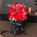 رخيصةأون الراين ستون وزينة الأظافر-زهور اصطناعية 1 فرع ترف / حفلة الورود أزهار الطاولة