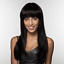 olcso Sapka nélküli-Emberi hajszelet nélküli parókák Emberi haj Göndör egyenes Természetes hajszálvonal Hosszú Géppel készített Paróka Női