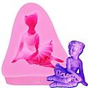 preiswerte Backformen-Silikonform-Karikaturzahl des Lebensmittel-Grades kleine Mädchenform 3d bearbeitet Werkzeug-Seifen-Süßigkeitsform