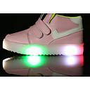 baratos Sapatos de Menina-Para Meninas Sapatos Courino Primavera Conforto Tênis para Preto / Amarelo / Rosa claro