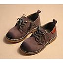 זול נעלי ילדים-בנים נעליים עור נובוק אביב נוחות נעלי אוקספורד ל אפור / Wine / חום כהה