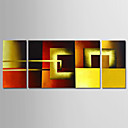 cheap Oil Paintings-Oil Painting Hand Painted - Abstract Comtemporary Modern Canvas