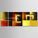 זול מחזיקים ומרכבים-ציור שמן צבוע-Hang מצויר ביד - מופשט עכשווי מודרני בַּד