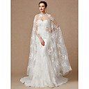 cheap Blush-Sleeveless Lace / Tulle Wedding / Party / Evening Women's Wrap With Appliques / Buckle / Lace Capes
