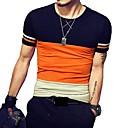 preiswerte Echthaar Perücken mit Spitze-Herrn Einfarbig Baumwolle T-shirt, Rundhalsausschnitt Patchwork