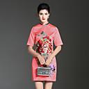 זול נעלי בד ומוקסינים לגברים-עומד פרח, אחיד פרחוני - שמלה גזרת A סגנון סיני בגדי ריקוד נשים