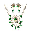 cheap Jewelry Sets-Women's Jewelry Set - Gold Plated Bohemian, Fashion Include Bridal Jewelry Sets Green For Wedding Office & Career