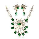 זול סטים של תכשיטים-בגדי ריקוד נשים סט תכשיטים - ציפוי זהב בוהמי, אופנתי לִכלוֹל סטי תכשיטי כלה ירוק עבור חתונה / טקס
