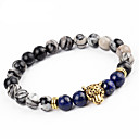 cheap Men's Bracelets-Men's Women's Onyx Bracelet - Statement, Vintage, Fashion Bracelet Gold / Silver For Party Carnival