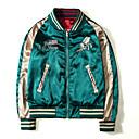 ieftine Maieu & Tricouri Bărbați-Bărbați Rotund Regular Jachetă Zilnic Vintage, Mată Iarnă Plisată Bumbac Acrilic