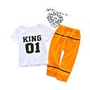 ieftine Baby Boys' One-Piece-Bebelus Băieți Casual Zilnic Simplu Mânecă scurtă Bumbac Set Îmbrăcăminte Alb 90
