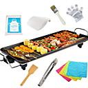 זול מכשירים למטבח-גריל ברביקיו חשמלי סגסוגת אלומיניום מגנזיום תרמי Cookers 220V 1400W מכשיר מטבח