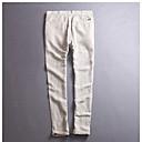 זול מפיגי מתח-בגדי ריקוד גברים רגיל פשתן צ'ינו מכנסיים אחיד