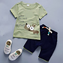 cheap Baby Shoes-Boys' Daily Solid Clothing Set, Cotton Summer Short Sleeves Casual White Yellow Light Blue Army Green