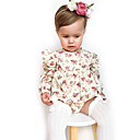 cheap Baby Girls' One-Piece-Baby Girls' Simple Solid Colored / Floral Short Sleeve Cotton / Linen / Bamboo Fiber Bodysuit / Toddler