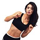 זול בגדי ריצה-פתוח בגב חזיות ספורט מרופד תמיכה קלה עבור יוגה - שחור / אדום ייבוש מהיר, נשימה, דק מאוד בגדי ריקוד נשים Chinlon