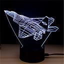 abordables Lumières de Décoration-1 set LED Night Light / Veilleuse 3D Changer Couleurs changeantes / Créatif / Décoration 5 V