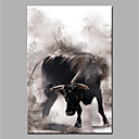 cheap Animal Paintings-Oil Painting Hand Painted - Animals Modern Canvas