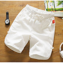 cheap DIY Wall Clocks-Men's Ordinary Cotton Linen Shorts Chinos Pants - Solid Colored
