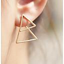 cheap Earrings-One-piece Suit Women's Stud Earrings - Geometric Pattern Jewelry Gold / Black For Party Daily
