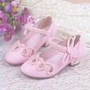 ieftine Bolerouri de Nuntă-Fete Pantofi PU Primavara vara Confortabili / Pantofi Fata cu Flori / Tocuri mici pentru Teens Tocuri pentru Roz