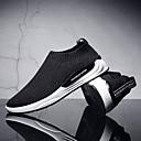 זול סניקרס לגברים-בגדי ריקוד גברים טול אביב / קיץ נוחות נעלי ספורט שחור / שחור וכסף / אדום