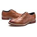 זול נעלי אוקספורד לגברים-בגדי ריקוד גברים PU אביב / סתיו נוחות נעלי אוקספורד שחור / אפור / חאקי