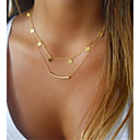 זול שרשרת אופנתית-בגדי ריקוד נשים שרשראות Layered - קלסי היפואלרגנית זהב שרשראות תכשיטים 1pc עבור מתנה, יומי