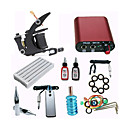 cheap Starter Tattoo Kits-Tattoo Machine Starter Kit - 1 pcs Tattoo Machines with 1 x 15 ml tattoo inks Mini power supply Case Not Included 1 cast iron machine liner & shader