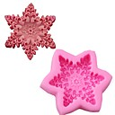 cheap Bakeware-Snowflake 3D Silicone Cake Mold Sugar Flower Cake Mousse Chocolate Soap Mould