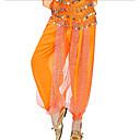 baratos Artigos de Forno-Dança do Ventre Fundos Mulheres Espetáculo Chiffon Lantejoula Caído Calças