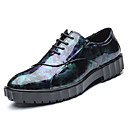 זול נעלי אוקספורד לגברים-בגדי ריקוד גברים הדפסת אוקספורד PU אביב / סתיו נוחות נעלי אוקספורד שחור / כחול